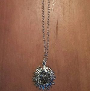 Lucky Brand long flower pendant
